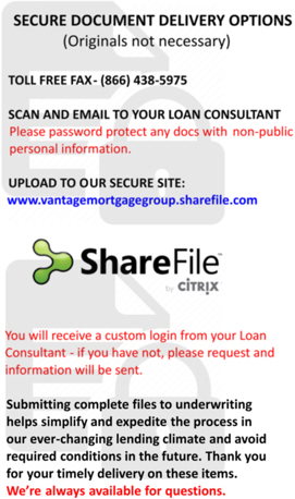 Vantage Mortgage Share File