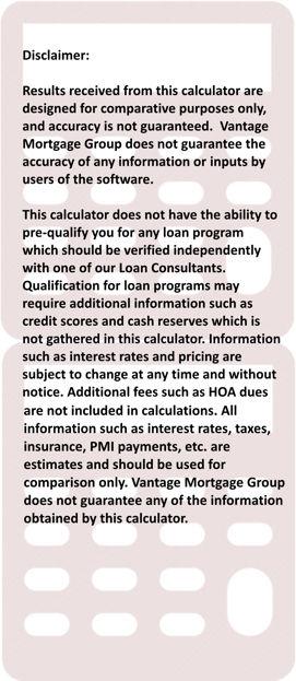 Calculator Disclaimer